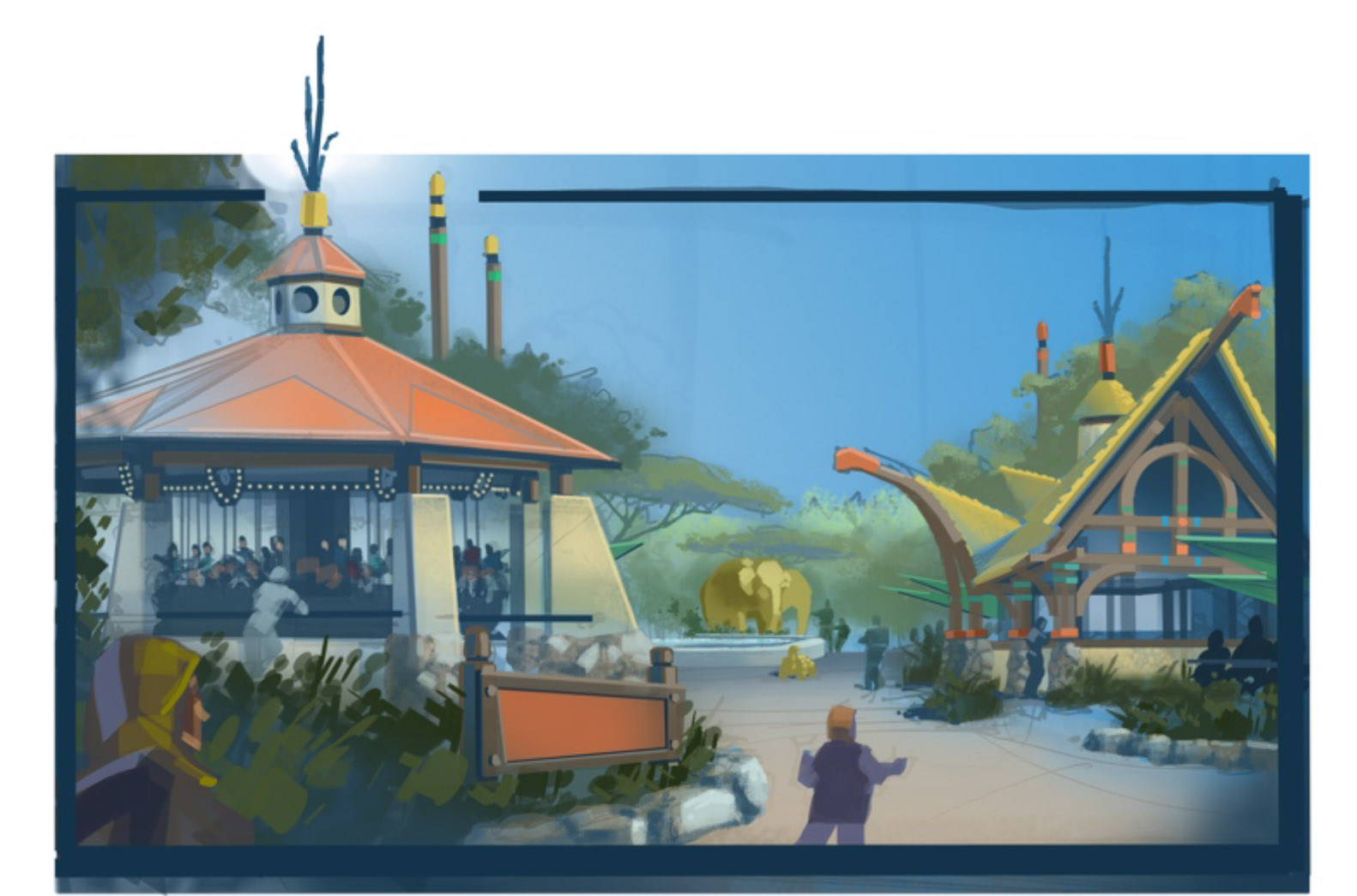 LA Zoo Carousel Plaza - Wyatt Design Group